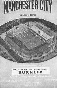 Manchester City v Burnley - The Championship, 2nd May 1960