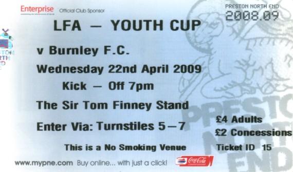 Tickets 2008 09 Season Clarets Mad