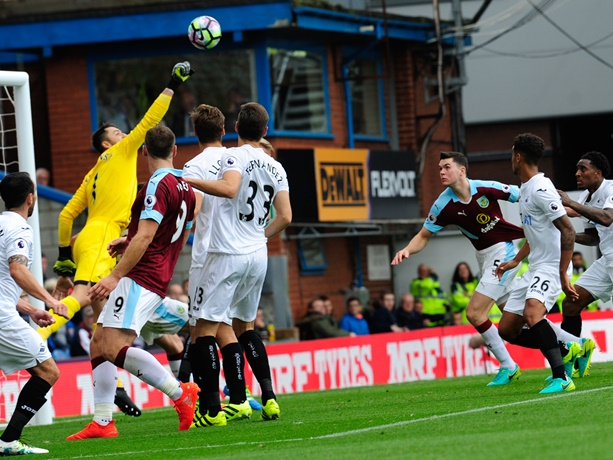 Tough return to EPL as Burnley loses 1-0 to Swansea