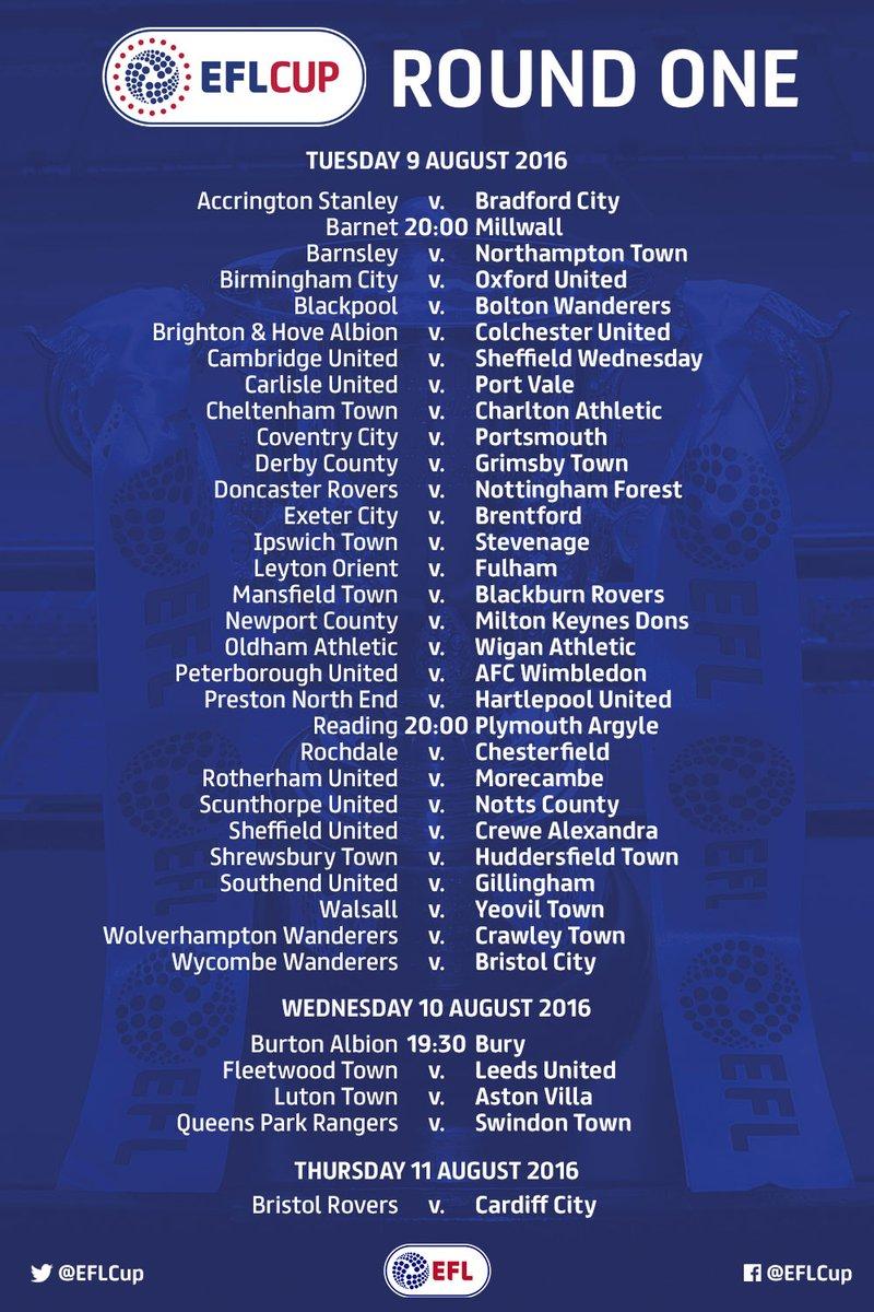 EFL Cup fixtures - Cardiff City Online