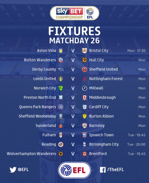 New years Championship fixtures - Cardiff City Online