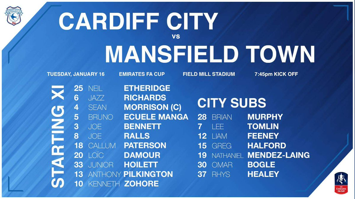 Mansfield v cardiff team line ups cardiff city online for Prem league table 99 00