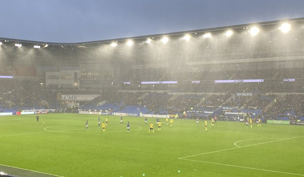Cardiff City 4 - 2 Birmingham City. Hat trick for Ralls