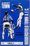 Huddersfield programme from 1970