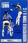 Huddersfield programme from 1970