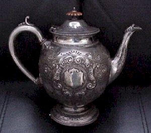 Teapot dedicated to Derby County 1891