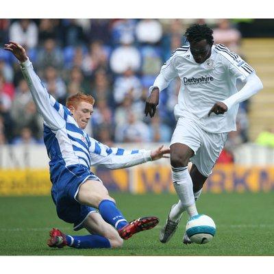 Claude Davis in action against Reading