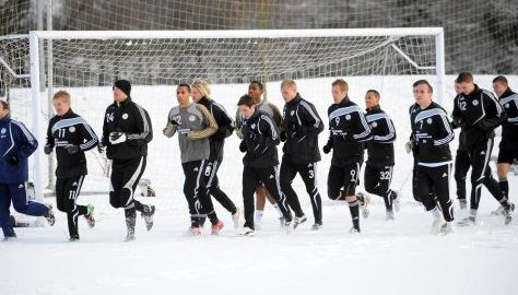 Rams snow training