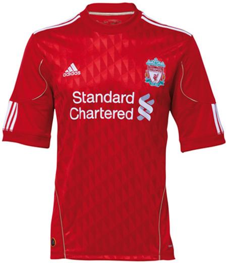 Liverpool home shirt 2010-11