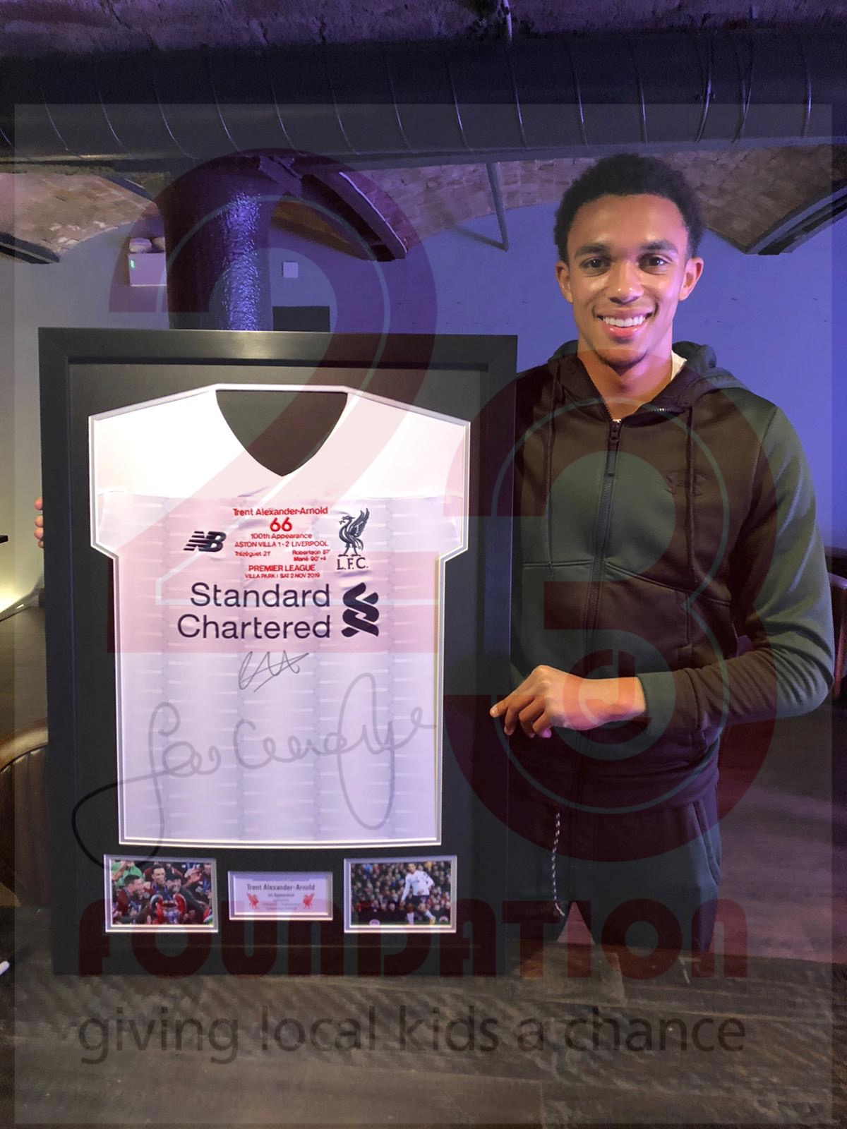 Get your hands on Trent's 100 Appearances Commemorative Limited Edition Framed Shirt
