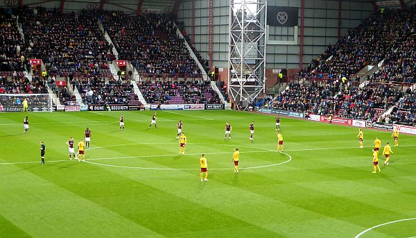A narrow loss for Motherwell at Tynecastle