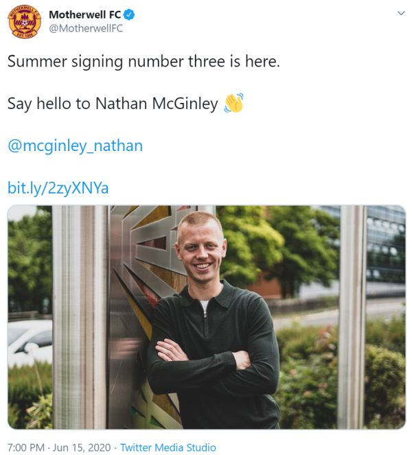 Signing number three at Fir Park
