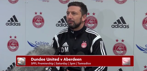 Derek McInnes speak before Dundee Utd game