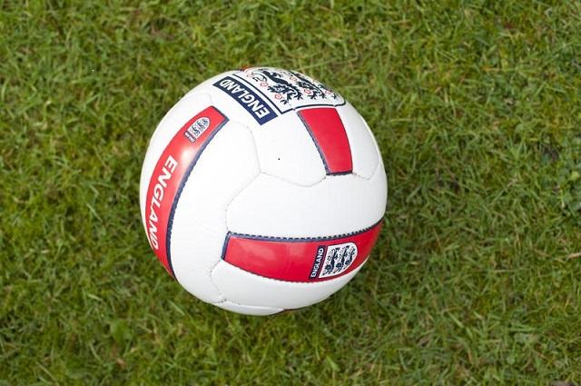 Football with England Three Lions Logo
