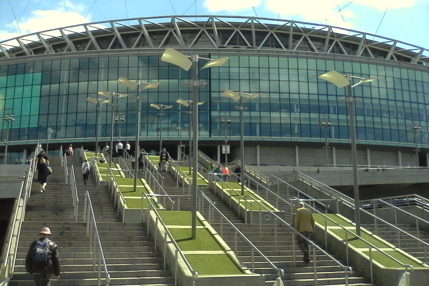 Steps leading up to Wembley Stadium