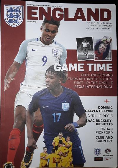 England Under-21 Match Programme